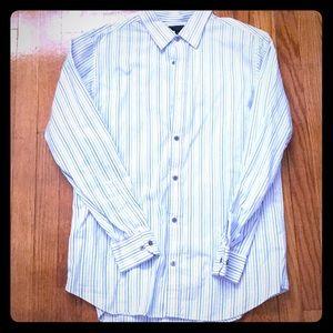 Banana Republic Striped Shirt Slim Fit 16-16 1/2